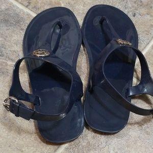 Michael Kors Shoes - Michael kors navy blue jelly sandal sz 8